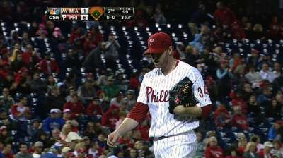 Halladay appears more trimmed down