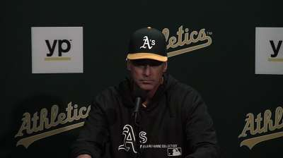 Melvin, A's have 'great humor' about sewage issue