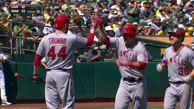 Trout wins second straight Angels MVP