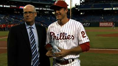 Utley named Clemente Award nominee for Phillies