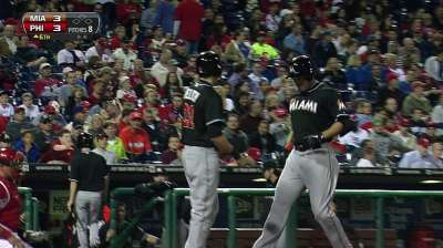 Lighter bat means farther homers for Stanton