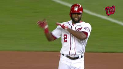 Span's hit streak at 29, one away from Nats' mark