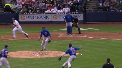 Cubs unable to rally after Rusin's five-run first