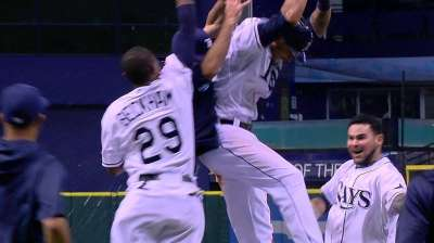 Rays walk off to top of AL Wild Card heap