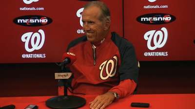 Nats to honor departing manager Johnson