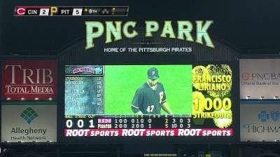 Liriano's 1,000th K sets new Pirates staff record
