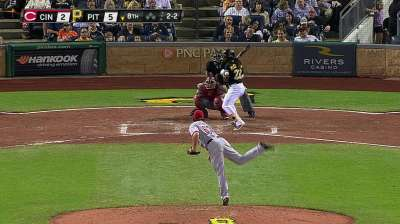 Hurdle ejected after McCutchen plunked by LeCure