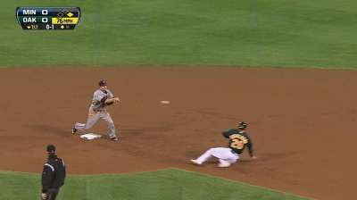 Albers unable to overcome Twins' miscues on defense