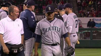 Mariners' Ramirez leaves game with soreness