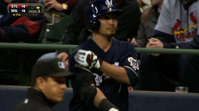 Brewers exercise Aoki's 2014 option