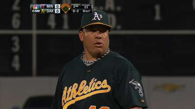 A's on verge of division title after rout of Twins