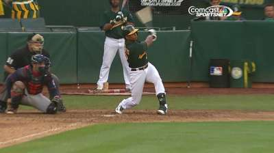 A's won't rush decision on improving Cespedes