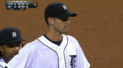Porcello getting acclimated to Tigers' bullpen