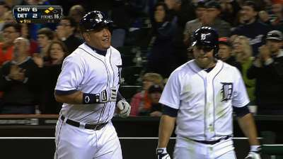 Improbable rally cuts Tigers' magic number to two