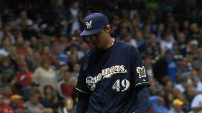 Gallardo settles, but Brewers can't solve Cards