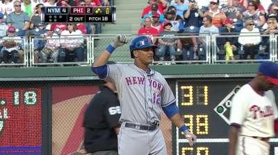 Los Mets lograron completar la barrida sobre los Filis