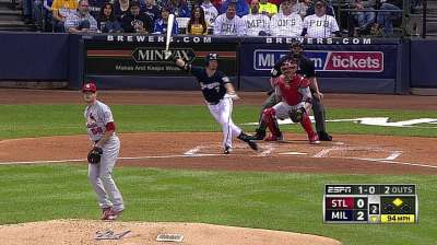 Brewers tack on runs early to beat Cards in finale