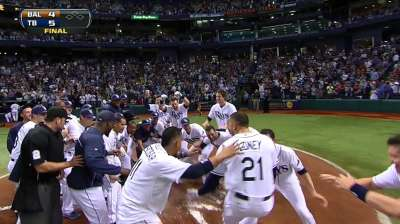 Walk-off magic: Rays stay alone atop AL Wild Card