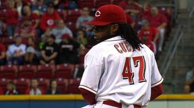 Cueto feels 100 percent, hopes to throw soon