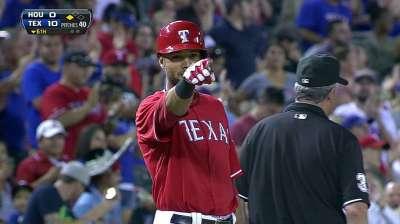Alexis Ríos bateó para el ciclo contra los Astros