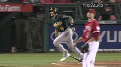 A's power closer in playoff home-field chase