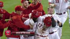 Choo's walk-off single sends Reds to postseason