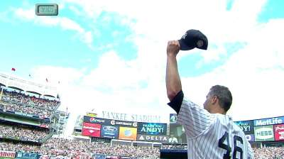 Pettitte savors moment in final Yankee Stadium start
