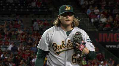 Griffin not on A's postseason roster for now