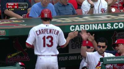 Carpenter falls short in bid for 200 hits
