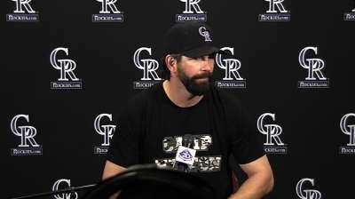 Helton will miss cage, 'where the work takes place'