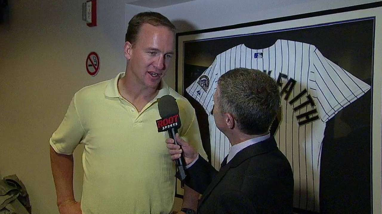 Helton still in awe of Manning, his former teammate