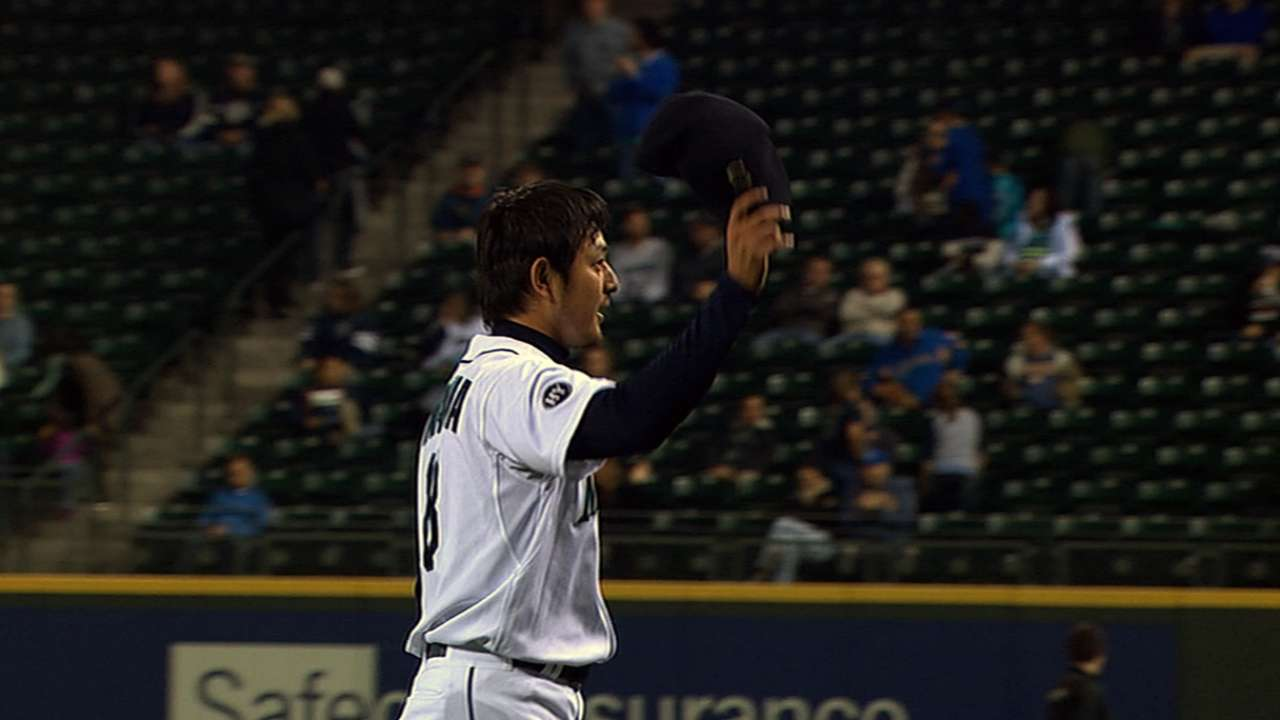 Iwakuma 'nasty' in sim game, could return on road trip