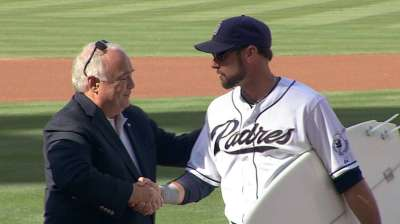 Kotsay honored before final game in San Diego