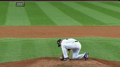 Rivera records four outs in emotional Bronx farewell