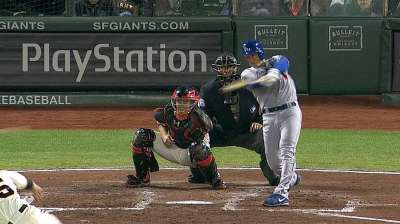 Dodgers' early lead doesn't hold up against Giants
