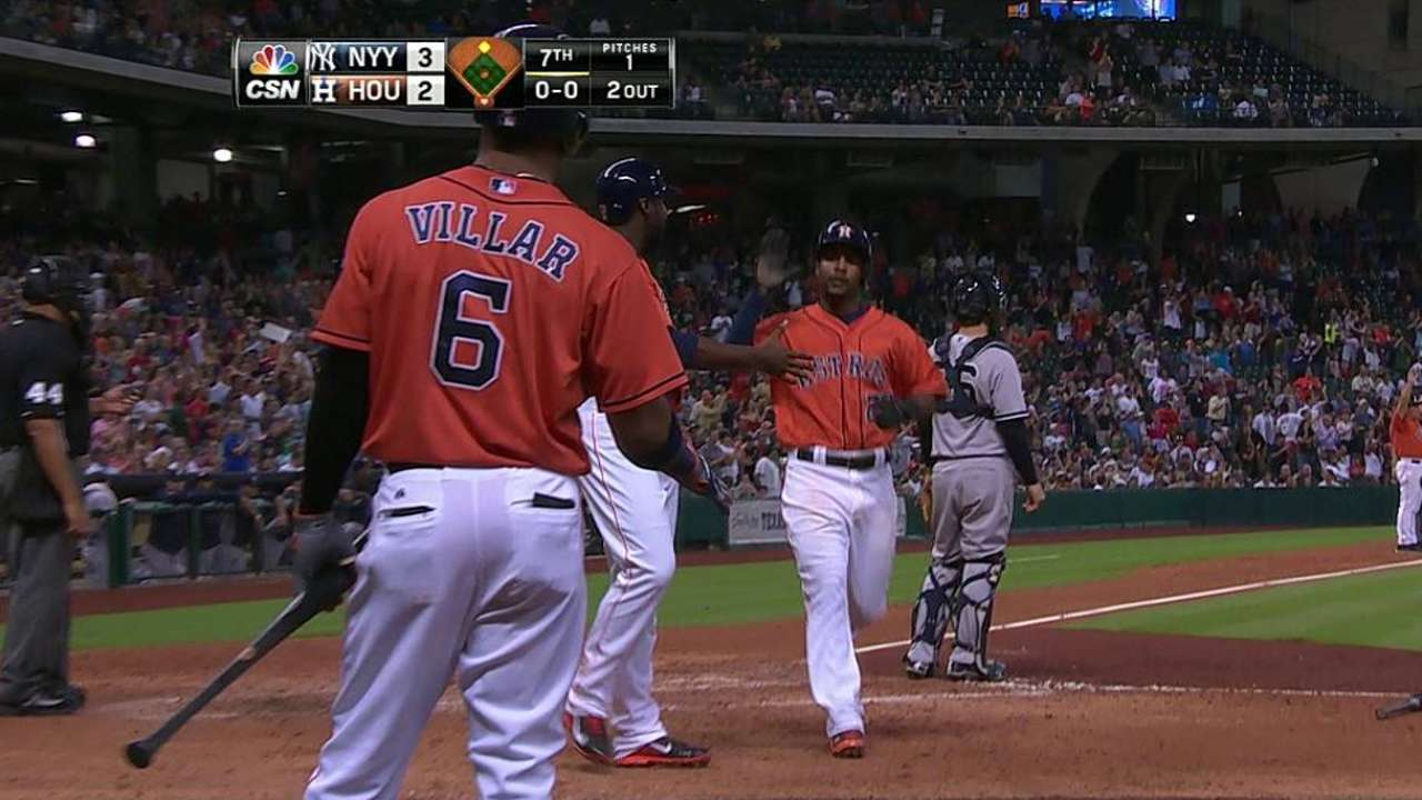Wallace's two-run double