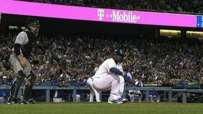 X-rays negative, Puig to test leg Saturday