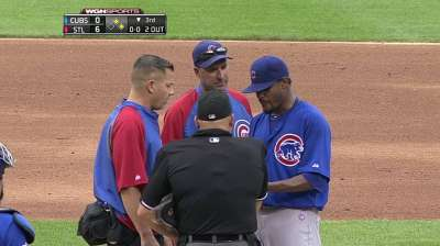 Jackson exits start with right lat discomfort