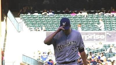 Brewers win in 10 after Nelson's debut as starter