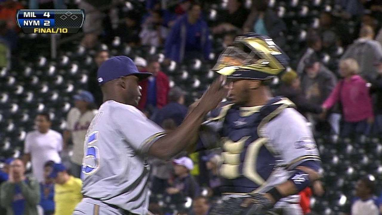 Figaro called up to bolster Brewers' bullpen