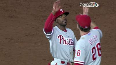 Phillies stave off furious Braves rally in ninth
