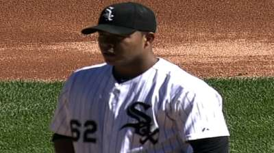 Quintana reaches 200-innings mark in loss to Royals