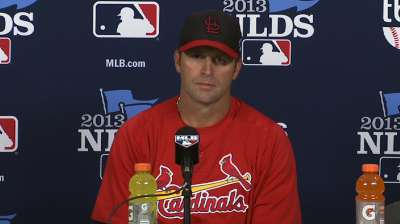 Matheny rides late-season lineup for Game 1