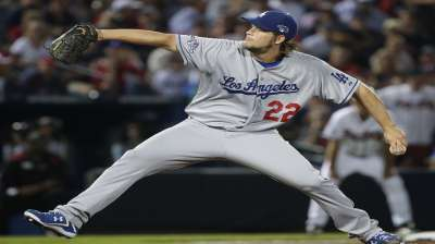 Kershaw strikes a pose, 12 times, in first playoff win