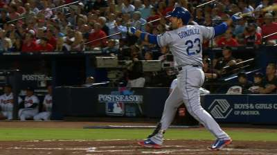 Adrian provides pop in Dodgers' Game 1 win