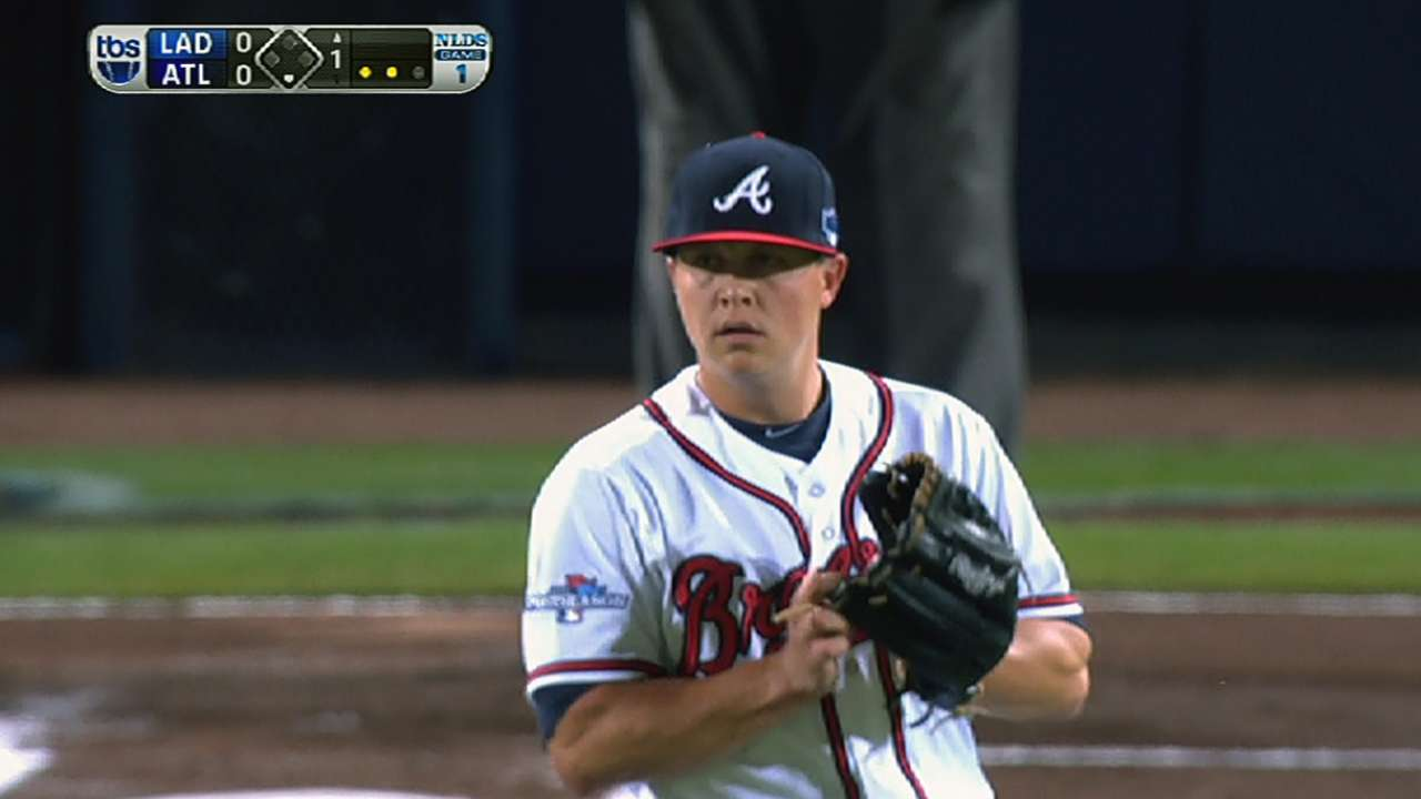 Medlen strikes out the side