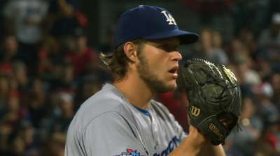 Dodgers ace Game 1 behind Kershaw's 12 K's