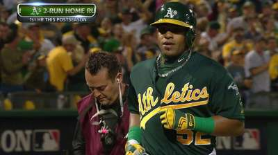 Cespedes is lone bright spot as A's bats struggle