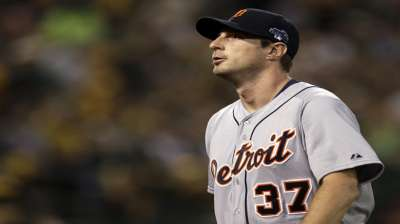 A's puzzled by Tigers' Scherzer in Game 1