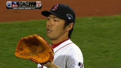 Uehara, bullpen slam door emphatically on Rays